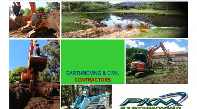 PKM Earthmoving, bobcat, excavator, Earthmoving Service Brisbane